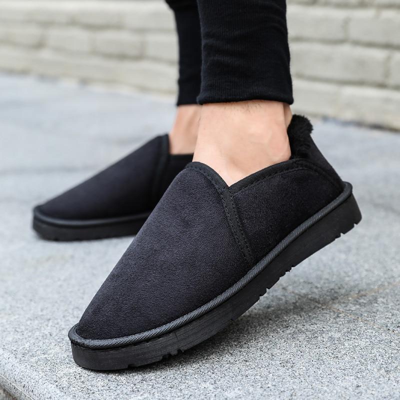 Zapatos Planos De Unisex Tenis Nieve Black Dentro Hombres on Mantener  Algodón Calientes Moda Invierno brown Felpa blue Calzado Los Masculino  Adulto Slip ... 3411a422b8a