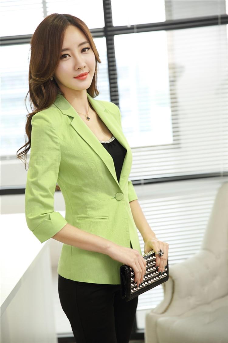 3b74a06735b Plus Size Uniform Style 2015 Spring Summer Women Office Suits Pants ...
