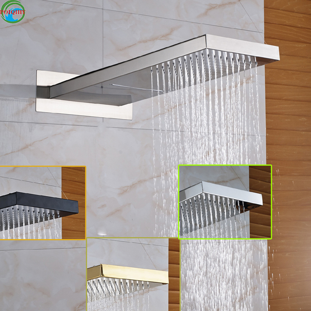 Types Of Shower Heads.Chrome Brushed Orb Golden Brass Shower Head Shower Wall Mounted Shower Head Fixed Support Type In Shower Heads From Home Improvement On