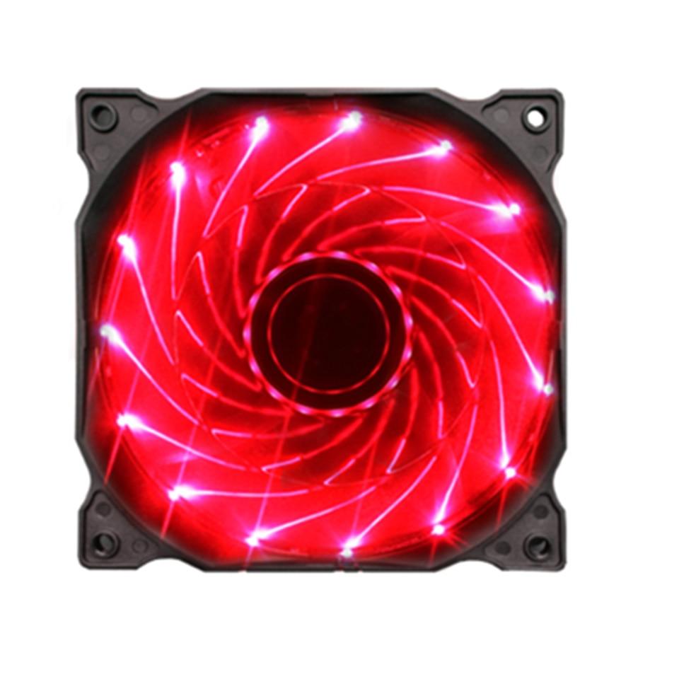 15/33LED 12 см 120 мм охлаждающий вентилятор бесшумный вентилятор синий зеленый красный белый цвет световое направляющее кольцо