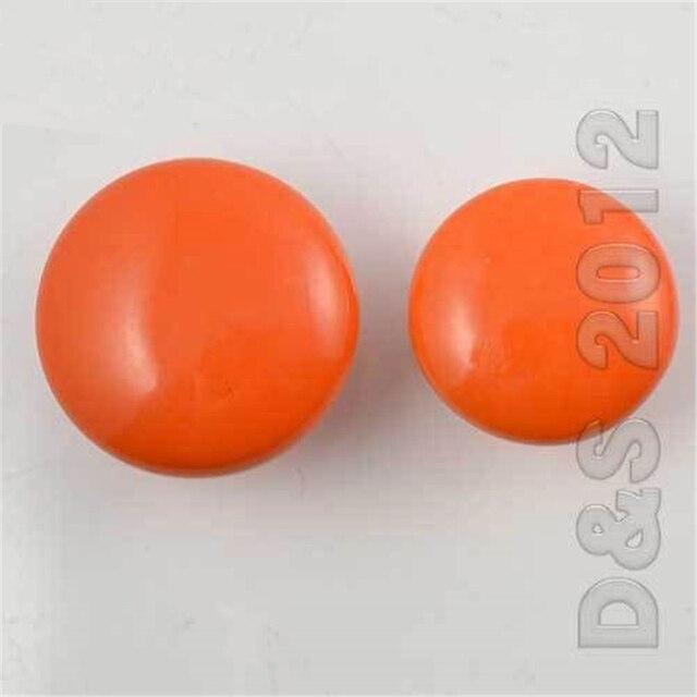 Megairon moderna 38 cm caramelo naranja tire perillas cocina armario ...