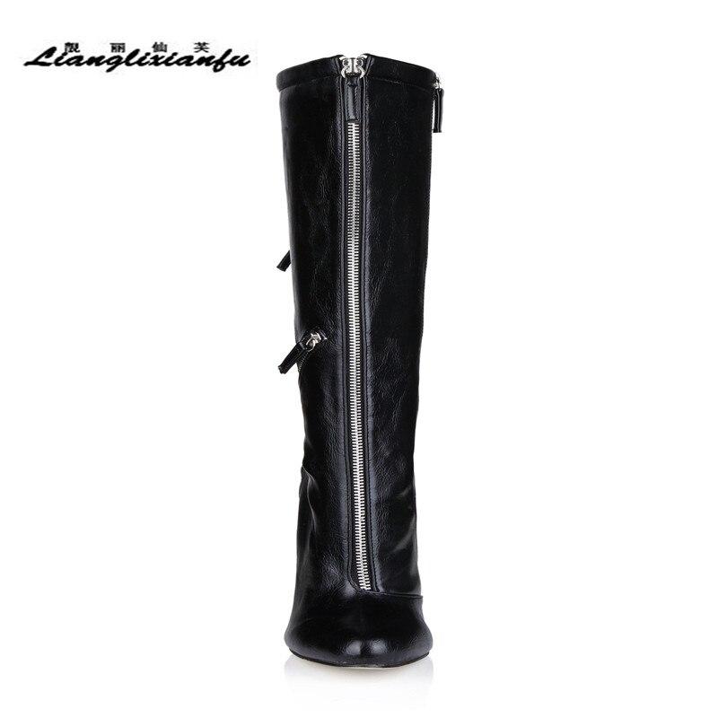 À Printemps Mince Talons Botas Mujer 35 Femme Genou Automne Chaussures 42 Du Hauteur 41 Pompes 43 Moto Llxf Bottes De Zipper Mariage Noir 12 Cm Plus xEpvqwx