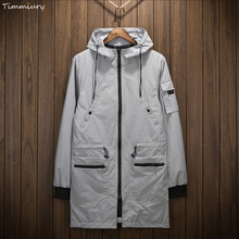 Timmiury Autumn Mens Waterproof Long Jackets M-3XL Bomber Windbreaker Military Jaqueta Masculina Chaqueta Hombre Veste Homme