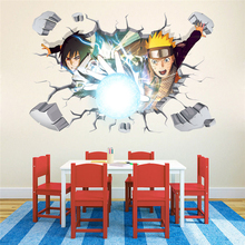 3D Naruto sticker anime wall decal pictures