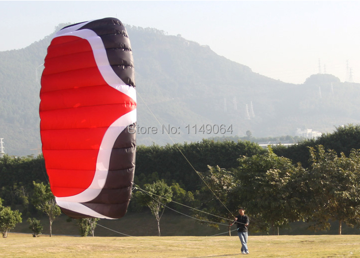 free shippingW5 5 square meter quad line power kite surf parachute paraglider pipa outdoor fun sports kite string factory whole ...