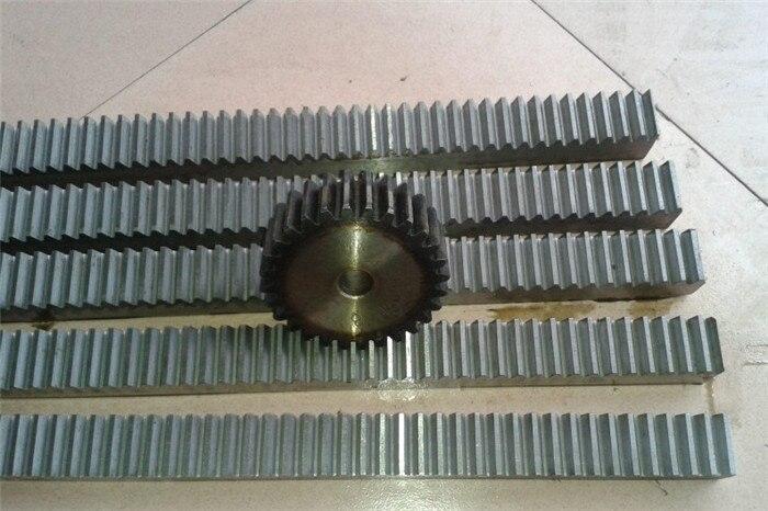 10 pièces 1.5Mod 1.5 module haute précision crémaillère en acier 20*20*500mm + 10 pièces 1.5 M 30 dents pignon CNC support mod 1.5 Rack