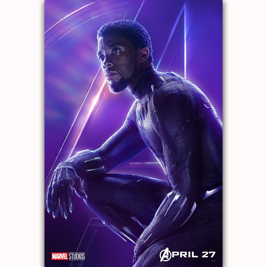 MQ3544 Avengers Infinity War Black Panther 2018 Movie Characters Film Art Poster Silk Canvas