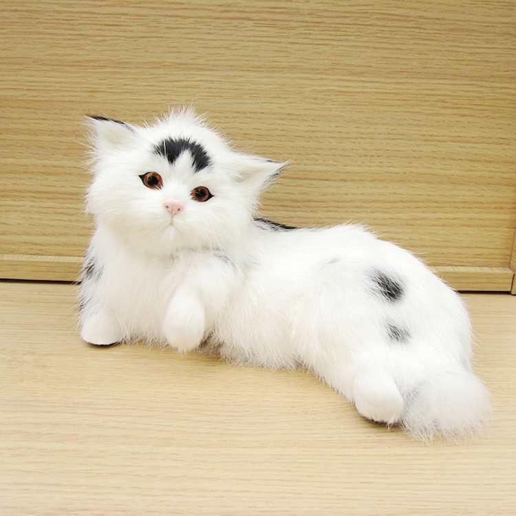 Φ_ΦNueva simulación gato blanco y negro natural realista color ...