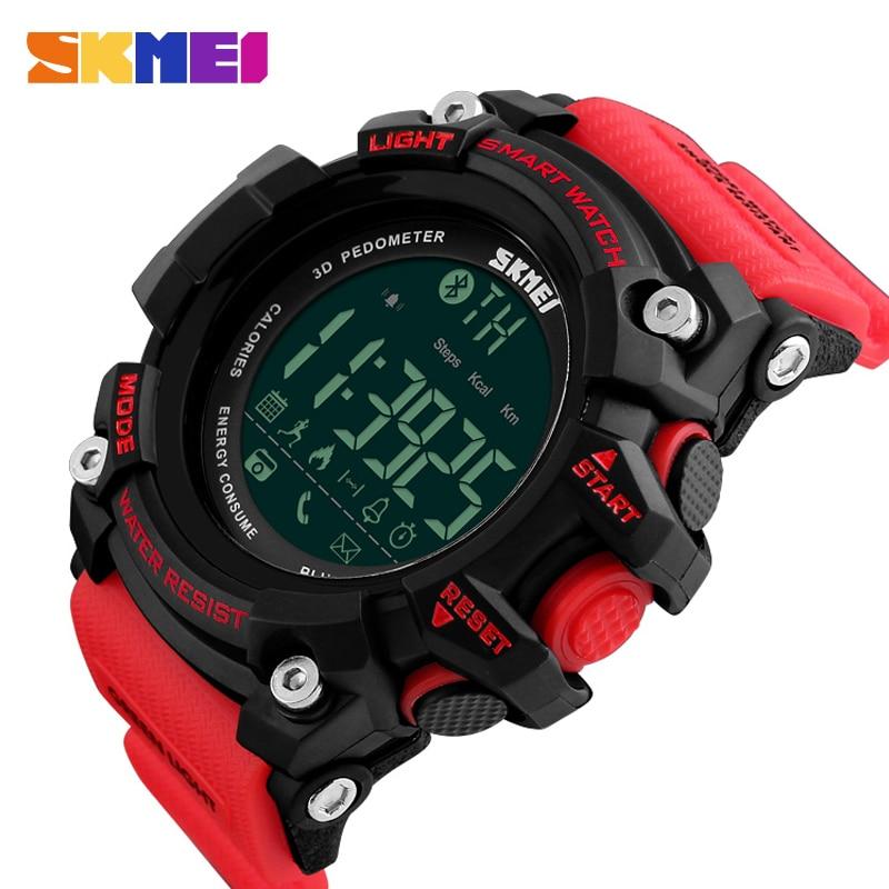SKMEI Marke Männer Smart Uhr Bluetooth Wasserdichte Outdoor Sport Digitale Uhren Schrittzähler Kalorien Zähler Elektronische Armbanduhren