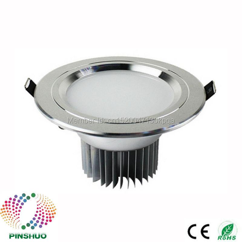 (60PCS / Lot) High Bright Bridgelux mikroshēma 30W 24W 18W 5W 7W 12W LED uz leju apgaismojums LED lejupvērsts apgaismojums Kvēlspuldzes griestu spuldzes spuldze