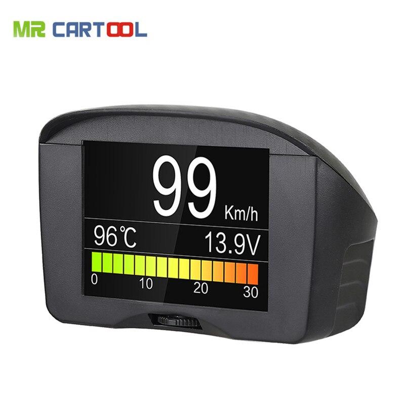 AUTOOL 2,4 ''Multifunktions Auto OBD Intelligente Digitale Meter & Alarm Fehlercode wassertemperaturanzeige spannung geschwindigkeit meter display