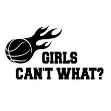 Девушки не могут, что Баскетбол Спорт ноутбук стикер 23x16 см