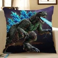 Dinosaur Spit Pillow Case Reversible Sequin Glitter Sofa Waist  Cushion Cover 45*45cm