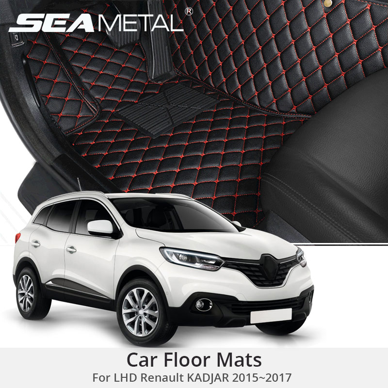 For LHD Renault KADJAR 2017 2016 2015 Car Floor Mats Rugs Auto Rug Covers Car-Styling Custom Leather Covers Interior Accessories usb