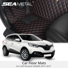 For LHD Renault KADJAR 2017 2016 2015 Car Floor Mats Rugs Auto Rug Covers Car-Styling Custom Leather Covers Interior Accessories