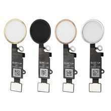 New High quality Home Button Assembly Flex Cable Sensor Ribbon Complete Spare Parts For iPhone 7 PLUS Black/White/Gold