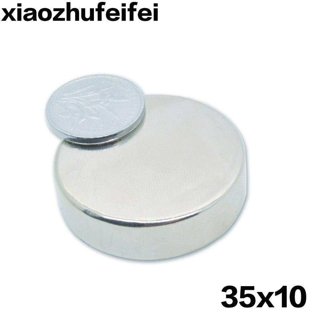 5pcs/pack Big Strong N42 Neodymium NdFeB Magnets Rare Earth Round Disc Fridge 35x10mm 35*10mm greeting word style fridge magnets 4 pack
