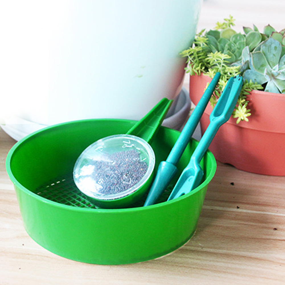 Gardening-Tool-Set Transplanter Vegetable Seed Flowers Bonsai Sifter Drilling Hole-Punch
