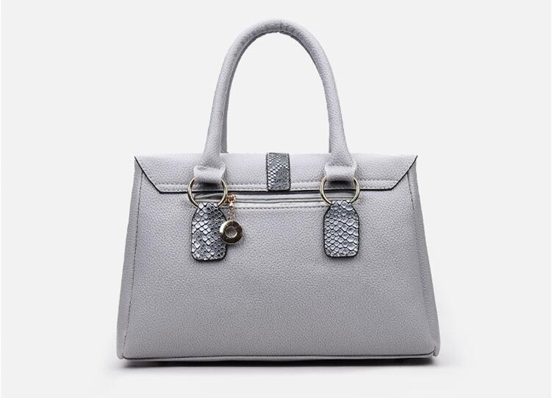 2 grey women handbag