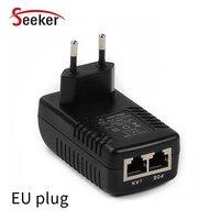 Novo adaptador de alimentação do interruptor do ponto de entrada do ethernet dc12v 1a 12 w plugue de parede da ue/eua/au/uk plug opcional injector injector injector poe injector adapter -