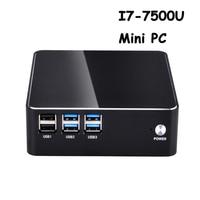 Intel Core i7 7500U Barebone System Mini PC No OS NUC suport 2.5inch HDD 4K HTPC with HD MI VGA dual display and mSATA