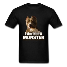 Respect Pit Bull Terrier T Shirt Custom Short Sleeve 2017 New Leisure Big Size Cotton Crewneck Not A Monster Dog Shirts For Boys