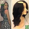Glueless U Parte Perucas de Cabelo Humano Ondulado Brasileiro Virgem Peruca Upart Onda Do Corpo Do Cabelo humano U Forma Nenhum Lace Wigs Para Preto mulheres