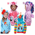 My Littl Poni Fleece Kids Hoodie Pony Girls Hooded Sweatshirt Children's Clothing Girls Hoodies & Sweatshirts Moleton Infantil
