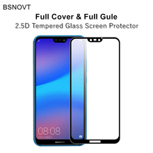 2pcs Full Cover&Full Glue Screen Protector For Huawei P20 Lite Glass Coverage Tempered Phone