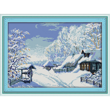 Everlasting love The middle of winter  Chinese cross stitch kits Ecological cotton stamped printed DIY New Christmas decorations