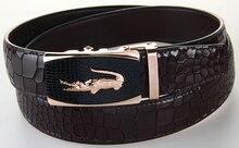 New Arrival Mans Genuine Leather Belt Causual Leather Belt Men Luxury Brand Designs Cowhide Straps Crocodile Buckle Black Belt