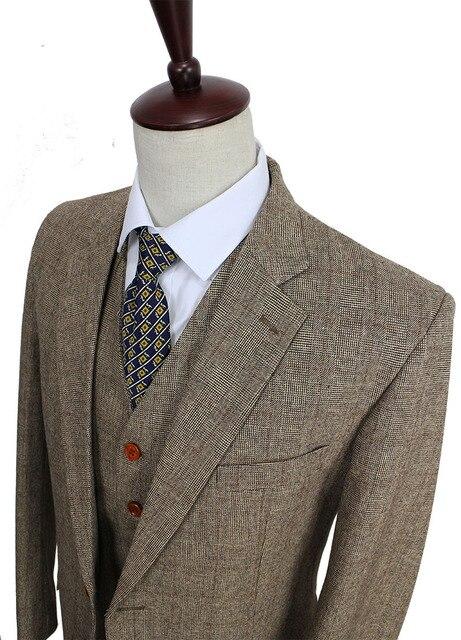 Aliexpress.com : Buy Retro gentleman style Brown Check Tweed ...
