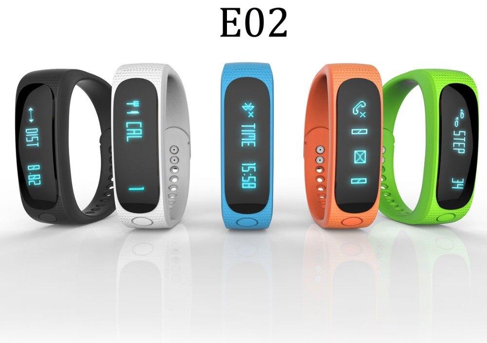 Smartband E02 Pulsera Inteligente Bluetooth Smart
