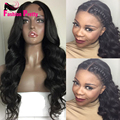 Cheap Middle Part Glueless Body Wave Wig With Baby hair Unprocessed Virgin Brazilian Lace Front Wigs Human Hair For Black Women