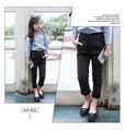 Calças de Brim meninas Primavera 2016 novos Coreano denim calças do bebê do sexo feminino crianças do sexo feminino Outono calças Slim