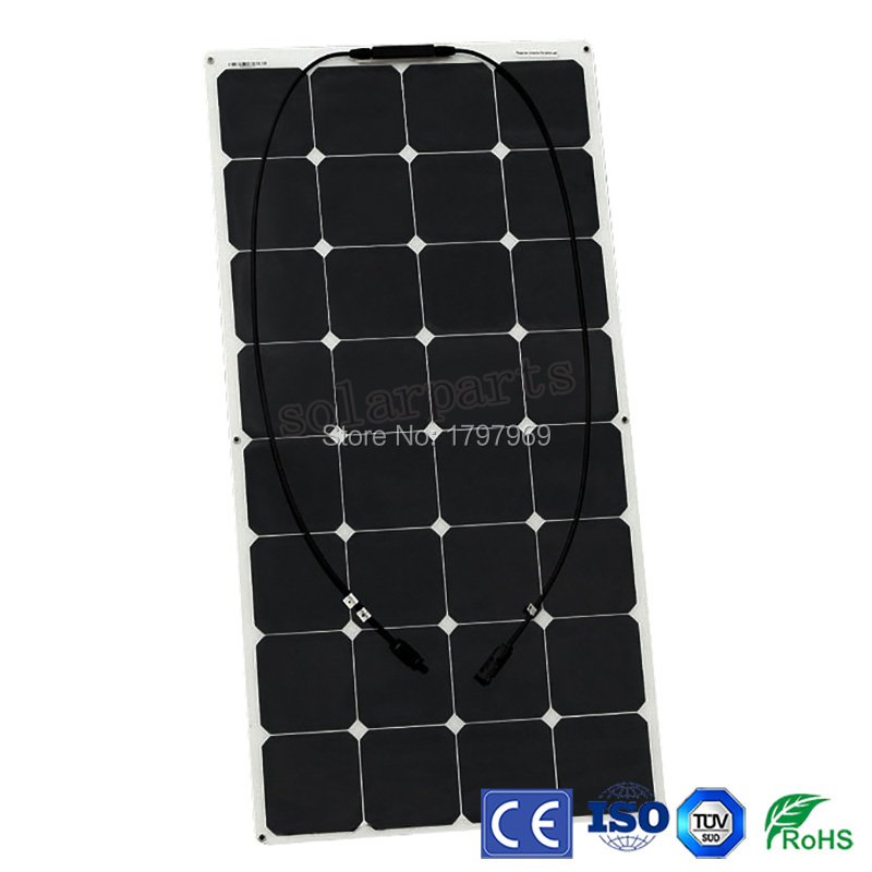 BOGUANG 2PCS 100W 12V flexible solar panel solar module cell for Nomadic RV yacht boat camping outdoor Breeding charger