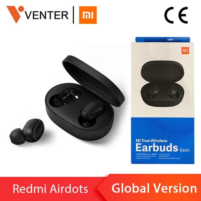 В наличии оригинальные Xiaomi Redmi Airdots TWS беспроводные Bluetooth наушники стерео бас Bluetooth 5,0 с микрофоном громкой связи с управлением AI