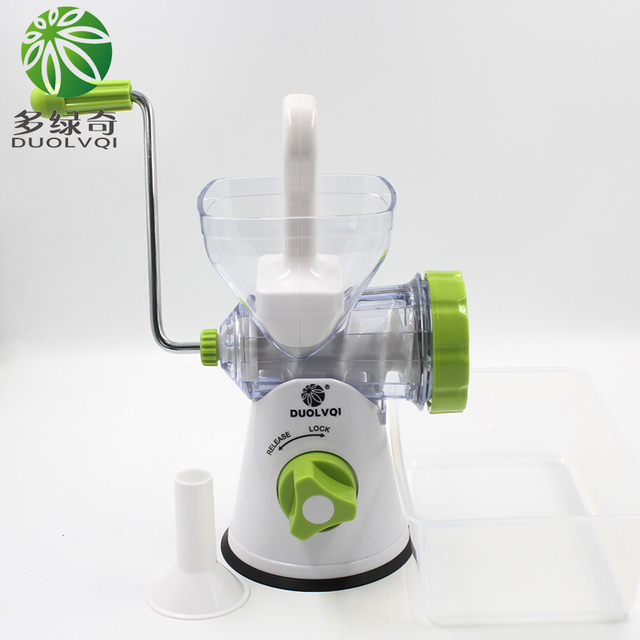 DUOLVQI,New Household Multifunction Meat Grinder, Stainless Steel Blade,Vegetable/Spice Hand-cranked Meat Mincer,tools