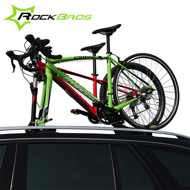 Cheap ROCKBROS Suction Roof-Top Bike Racks Bike Accessories Bicycle Sustion Cup Roof Rack Cycle SUV Sucker Talon Car Racks For 2 Bikes