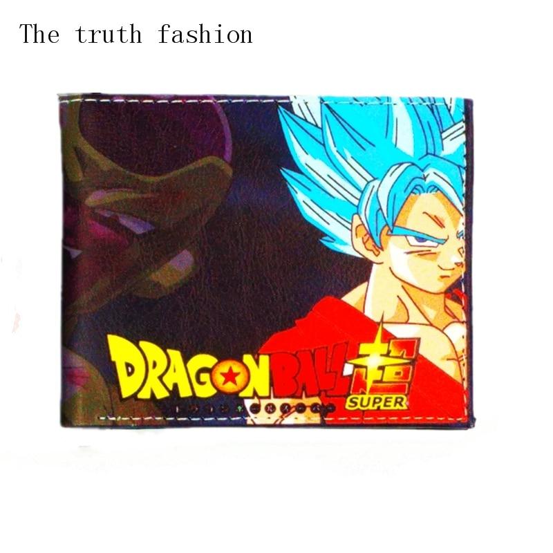 dragon ball supper pu leather wallets men's wallet hot game dragon ball Xenoverse zipper purse clutch god of war bolsa masculina