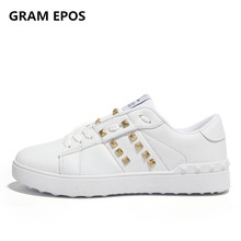 Top 2017 New Hot Fashion Women Rivet Leisure 3cm High Heel Female Casual Footwear classic Couple shoes For Adults basket femme