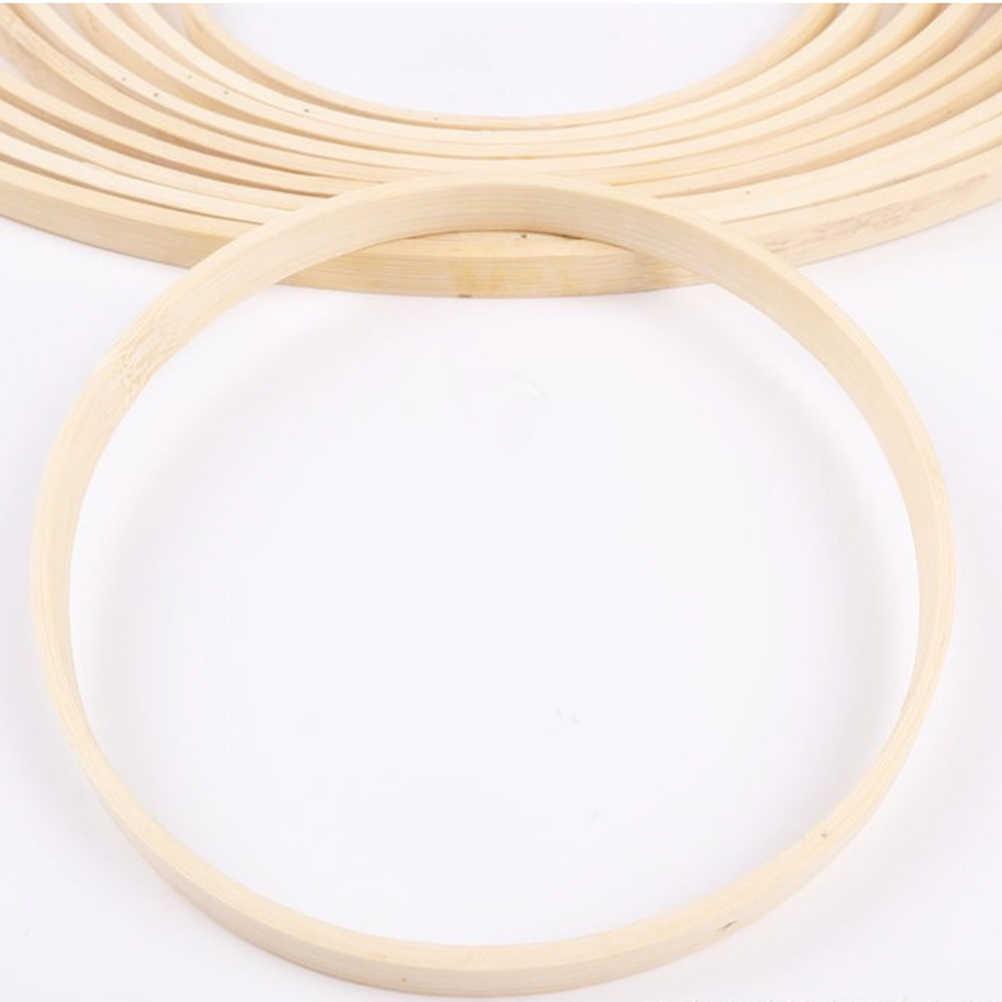 10Pcs 15 cm/20 cm/23 cm/26 cm Traum Catcher Ring Stickerei Hoop Bambus Kreis runde Holz DIY Kunst Handwerk Kreuz Stich Werkzeuge