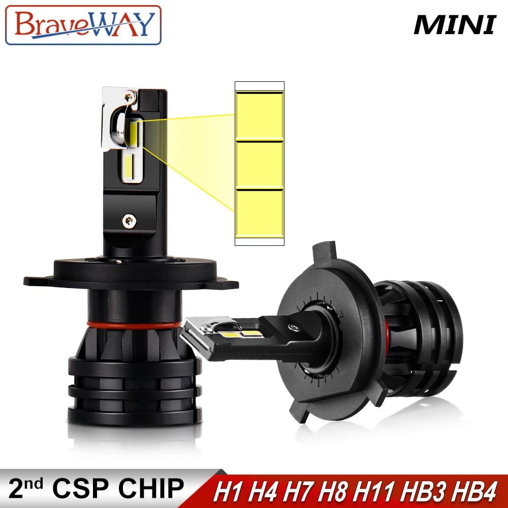 BraveWay 16000LM LED Headlight Bulbs H1 H4 H7 H8 H9 H11 HB3 HB4 9005 9006 Headlamp For Cars Turbo LED Bulbs For Auto 12V Lights
