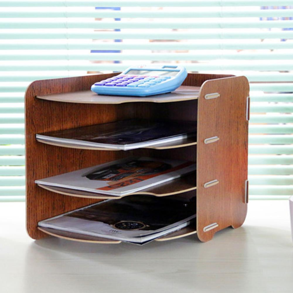 Simple Home Office Sundries Storage Rack Box Office Table Files Organizer Shelf Desk Organizer Box