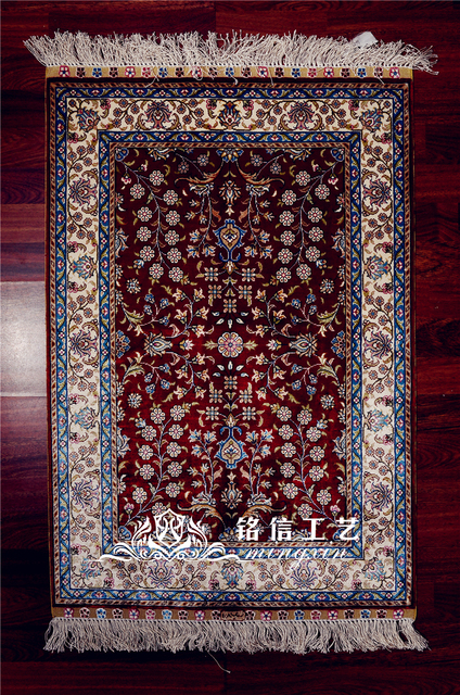 Aliexpress Com Acheter Mingxin 2x3ft Soie Noues A La Main Turc
