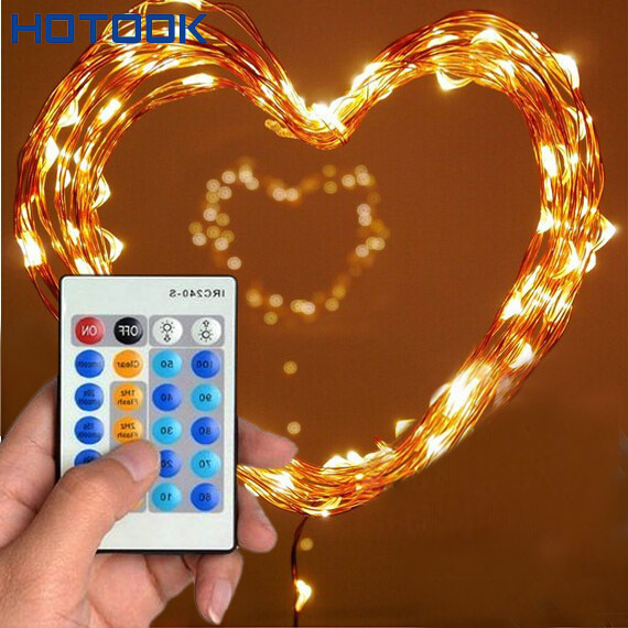 Aliexpress Com Buy 10M 33FT 100 Led Fairy Lights Copper Wire  - Christmas Light Remote