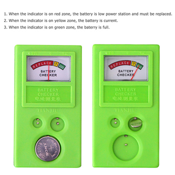 1pc LR44 CR2032 CR2025 Watch Battery Checker Light Weight Button Cell Coin Battery Power Tester Battery Testers