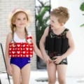 Kids swimwear 2017 professional buoyant swimming suits boys and girls quick-drying one piece buoyancy swimwear swimsuit SETS