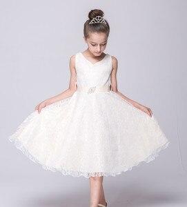 Image 5 - Cailini vestido de princesa para meninas, vestidos de princesa de renda para crianças, aniversário, casamento, festa, branco, preto, dança, 3 14 anos