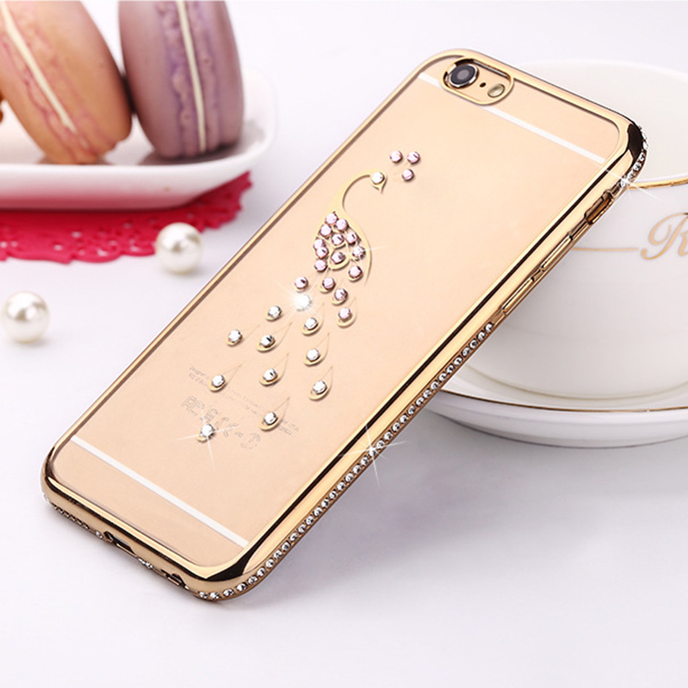 """Fashion Luxury Diamond Bling Glitter Silicone Case Cover Protection Phone Case For iPhone 6/6S Plus 5.5"""""""